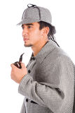 Sherlock holmes with pipe Stock Images
