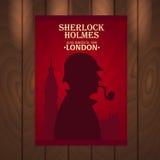 Sherlock Holmes plakat Piekarniana ulica 221B Londyn zakaz duży Fotografia Stock