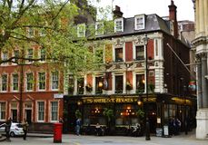 Sherlock Holmes Pub, London. Beautiful Pub Sherlock Holmes in London, Great Britain Royalty Free Stock Photography