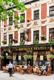 The Sherlock Holmes pub. London, Westminster Royalty Free Stock Photos