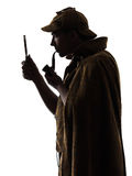 Sherlock holmes silhouette Royalty Free Stock Photo
