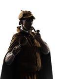 Sherlock holmes silhouette Stock Photography