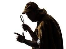 Sherlock holmes silhouette Royalty Free Stock Photos