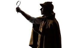 Sherlock holmes silhouette Stock Photo