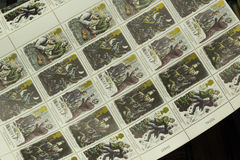 Sherlock Holmes stamps Stock Photography
