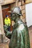 Sherlock Holmes Statue Baker Street Metro Station London England Royalty Free Stock Image