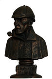 Sherlock holmes statue Royalty Free Stock Photo