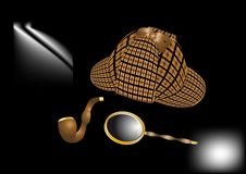 Sherlock Holmes-uitrusting Royalty-vrije Stock Foto