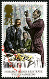 Sherlock Holmes UK Postage Stamp Stock Images