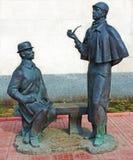 Sherlock Holmes und Dr. Watson, Moskau stockbilder