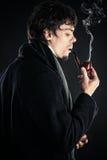 Sherlock Holmes z drymbą Zdjęcia Royalty Free