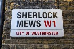 Sherlock Mews à Londres image libre de droits