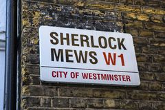 Sherlock Mews à Londres photos stock