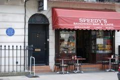 Sherlock uppsättning norr Grover Street Arkivfoton