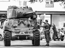 Sherman american tank Stock Photo