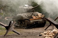 Sherman-Becken â WW II stockfotografie