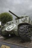 Sherman behållare av den 11th Aroured uppdelningen på ställeGenen McAuliffe Royaltyfria Foton