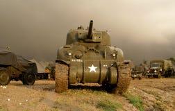 Sherman för världskrig två behållare Royaltyfri Bild