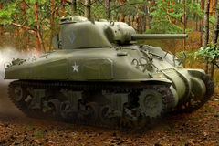 Sherman M42 tank Stock Photography