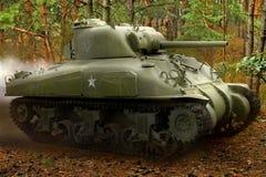 Sherman M42 tank stock photography
