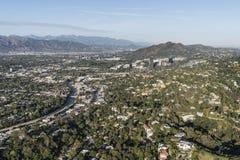 Sherman Oaks and Studio City Aerial Los Angeles California Stock Photo