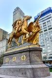 Sherman pomnik - central park, Nowy Jork fotografia stock