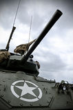 Sherman Tank. Old WWII Sherman tank with US military star on the front Stock Photos