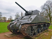 Sherman tank front traction wheel Stock Images