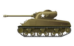 Sherman tank. Illustration of USA ww2 tank Royalty Free Stock Photography