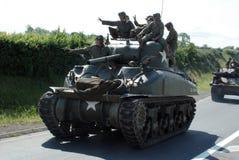 Sherman tank Normandy 2014. Anniversary D-Day stock photos