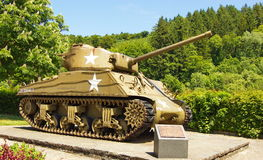 Sherman tank stock image