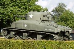 Sherman Tank sikt royaltyfri foto