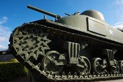 Sherman Tank sikt royaltyfria bilder
