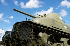 Sherman Tank sikt arkivfoto