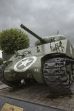 Sherman tank of the 11th Aroured Division on the Place Gen. McAuliffe Royalty Free Stock Photos