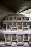 Sherman Tank track. Close up shot of the left hand track of a WW2 American Sherman tank royalty free stock photo