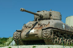 Sherman Tank at Utah Beach Royalty Free Stock Images