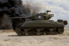 Sherman Tank  – WW II Stock Photos