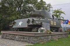 Shermantank gewijd aan Col. Hogan en aan het 771ste Tankbataljon royalty-vrije stock foto