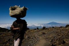 Sherpa Килиманджаро Стоковое фото RF