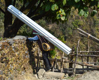 Sherpa bei der Arbeit Stockfoto
