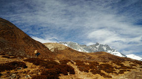 Sherpa in Himalaya Fotografia Stock