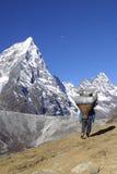Sherpa Himalayagebergte dat - werkt Stock Afbeelding