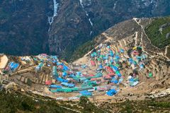 Sherpa village of Namche Bazar Royalty Free Stock Image