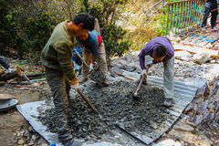 Men working on path Royalty Free Stock Photography