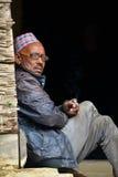 Sherpas de Gurung en Himalaya, Népal Photographie stock