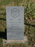 Sherriff Memorial Tombstone Stock Images