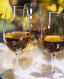 Sherry. Three Glasses of Amontillado Sherry Stock Photography