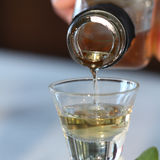 Sherry glass Stock Photography