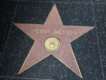 Sherry Jackson-ster in hollywood Royalty-vrije Stock Foto's